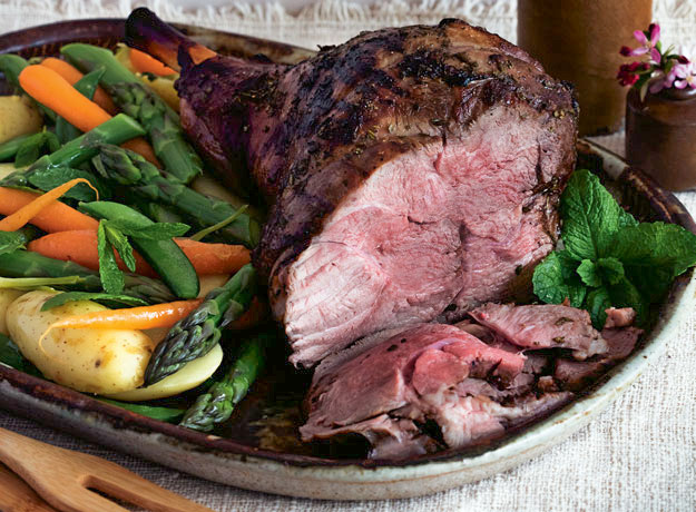 Brined Spiced Leg of Lamb