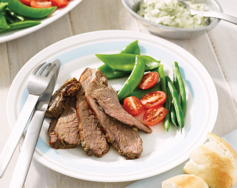 Barbecued Butterflied Coastal Lamb Leg with Herb Mayonnaise