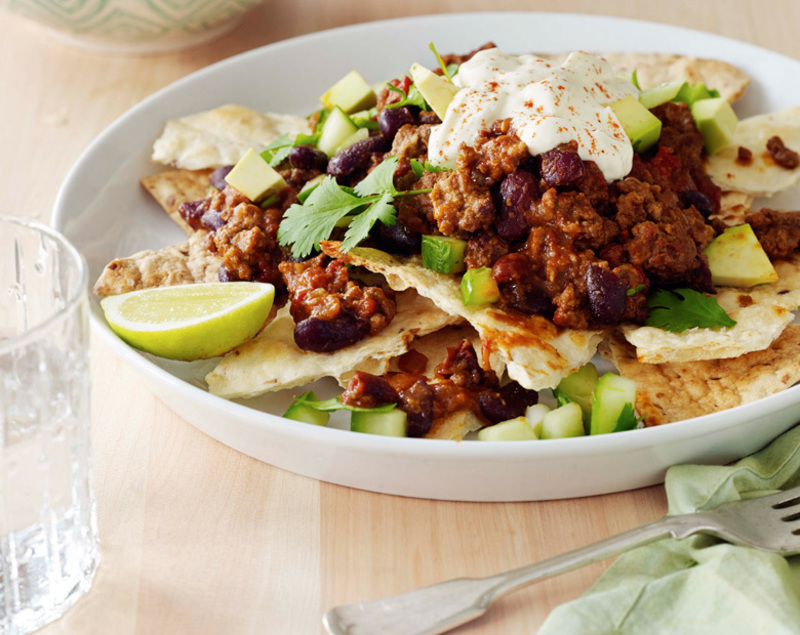 Coastal Lamb Nachos with Avocado Salsa