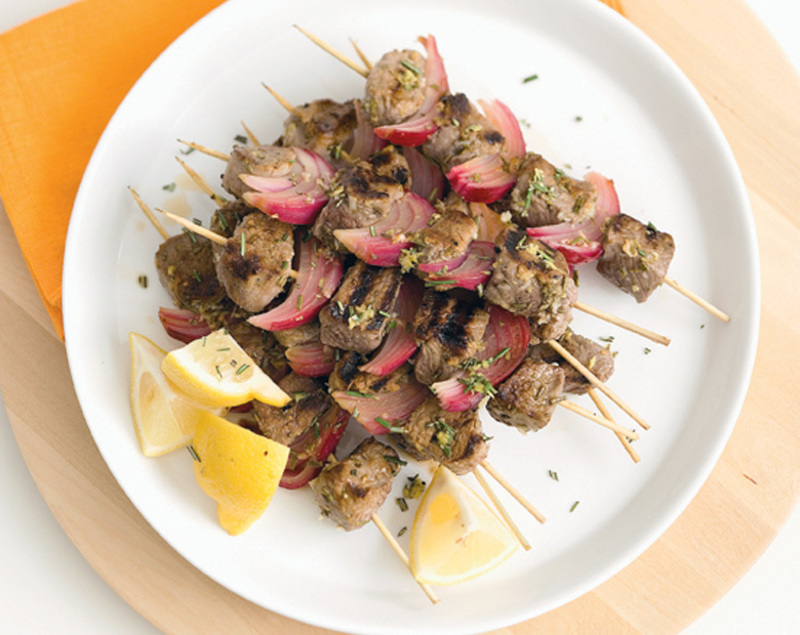 Lemon And Rosemary Coastal Lamb Kebabs