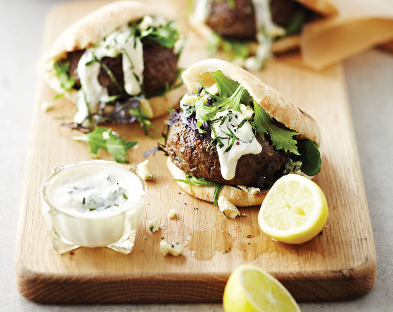 Coastal Lamb Burger Pitas