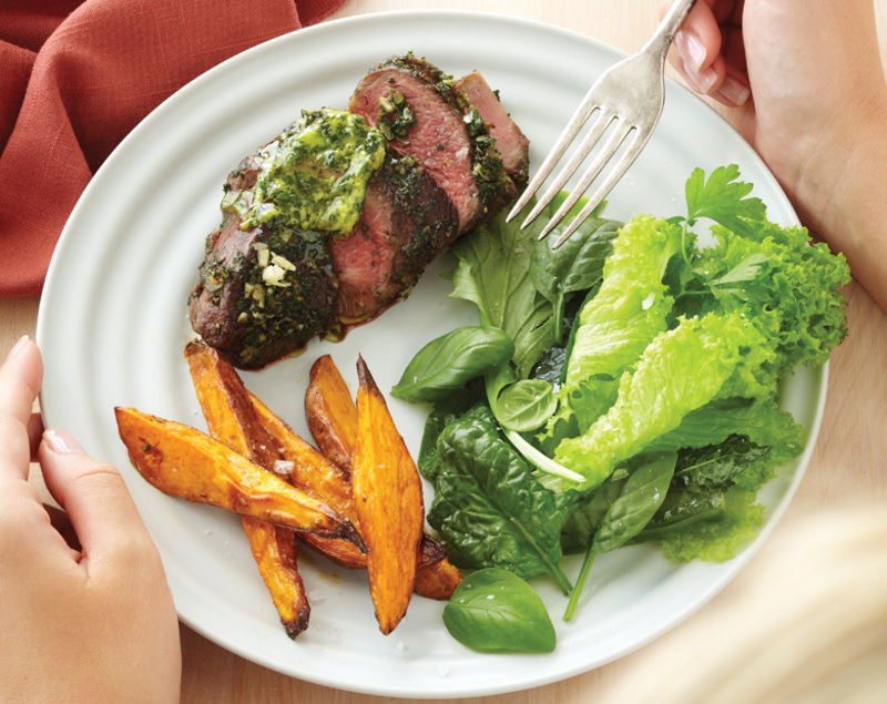 Roasted Coastal Lamb Rumps With Fresh Herb & Mustard Butter