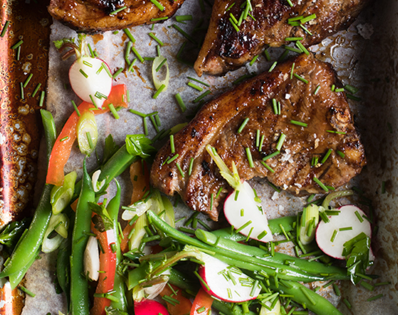 Sticky-Glazed Coastal Lamb Loin Chops