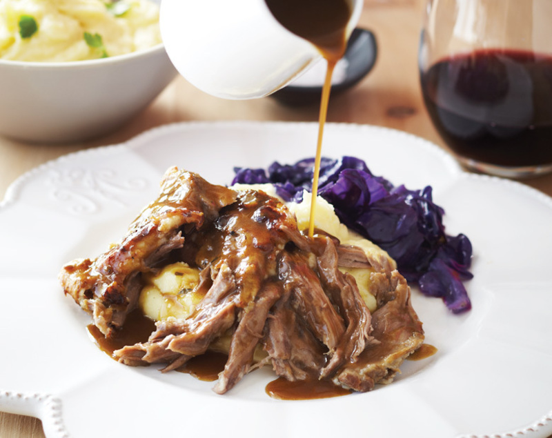 Slow Cooked Pulled Coastal Lamb
